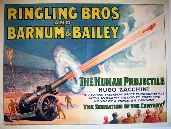 17 best Human Cannonball images on Pinterest |Human Cannonball Circus Poster