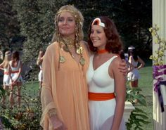 Carolyn Jones (Hippolyta) and Debra Winger (Drusilla)